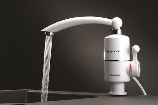 Dřezová baterie Delimano Instant s elektrickým ohřevem vody bílá 102367595
