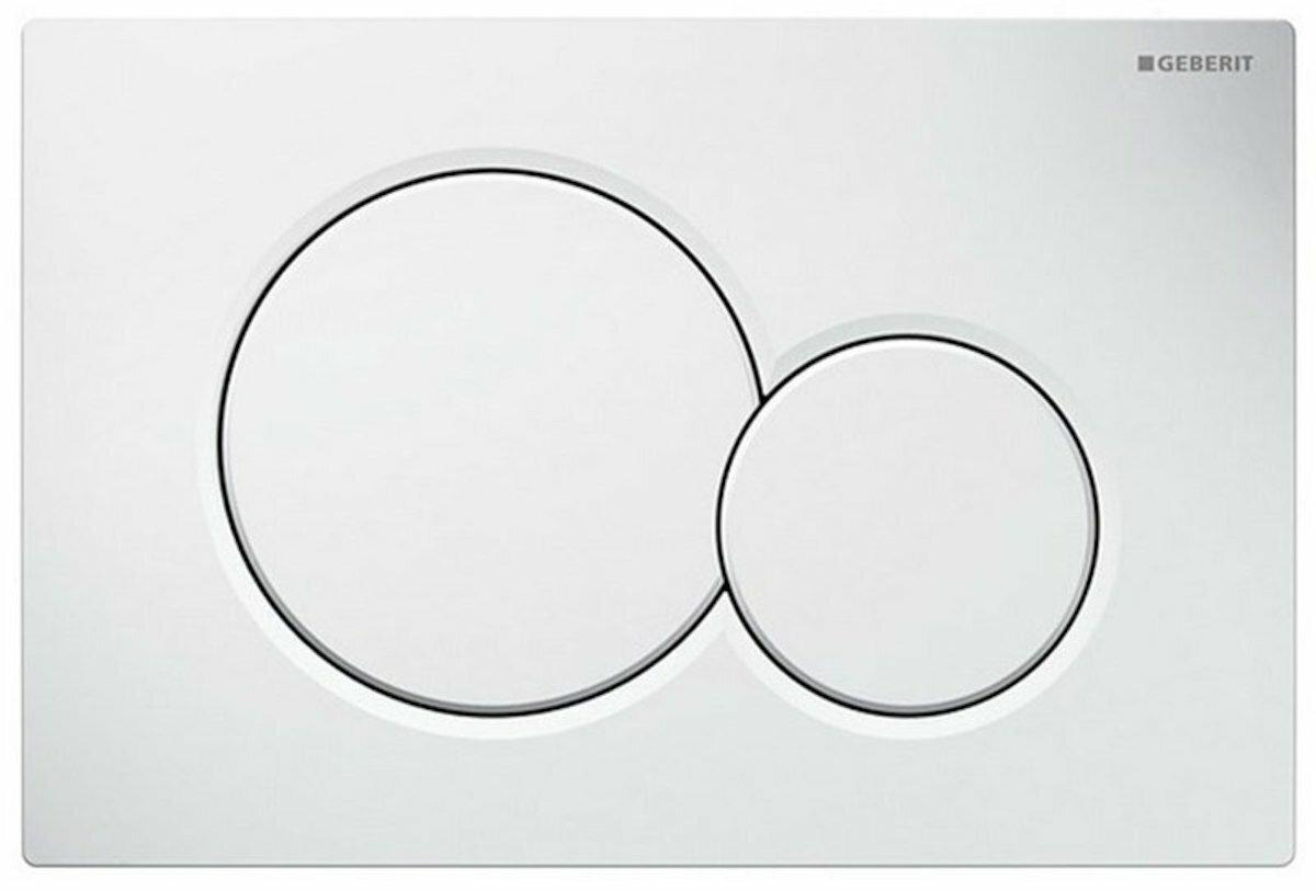 Závěsný set WC TESI Rimless + modul Geberit Kombifix s tlačítkem Sigma 01 (bílé) 110.302.00.5 NE1