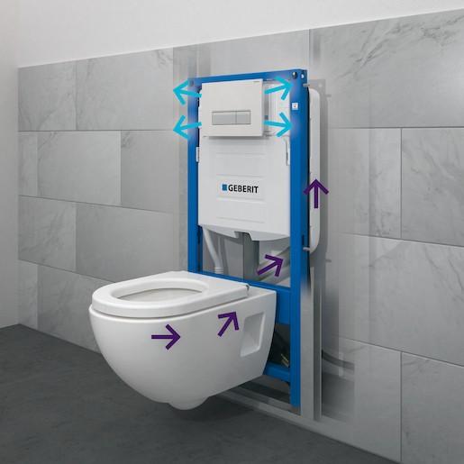 GEBERIT Duofix DUOFIX pro závěsné WC, H112, Sigma splachovací nádržka UP320 (111.370.00.5)