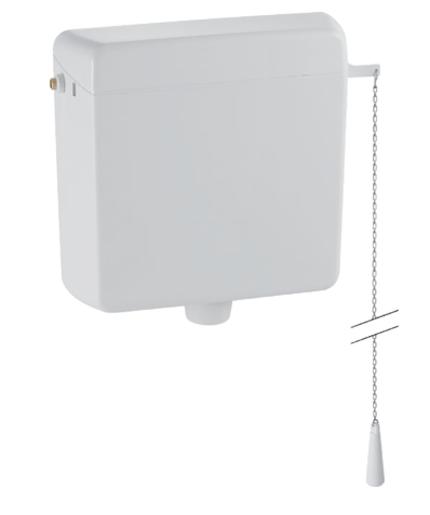 Splachovací nádržka AP123 Geberit, vysokopoložená, 9 l, alpská bílá / 123.700.11.1
