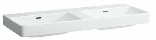 Dvojumyvadlo Laufen Pro S 130x46 cm bez otvoru pro baterii H8149680001091