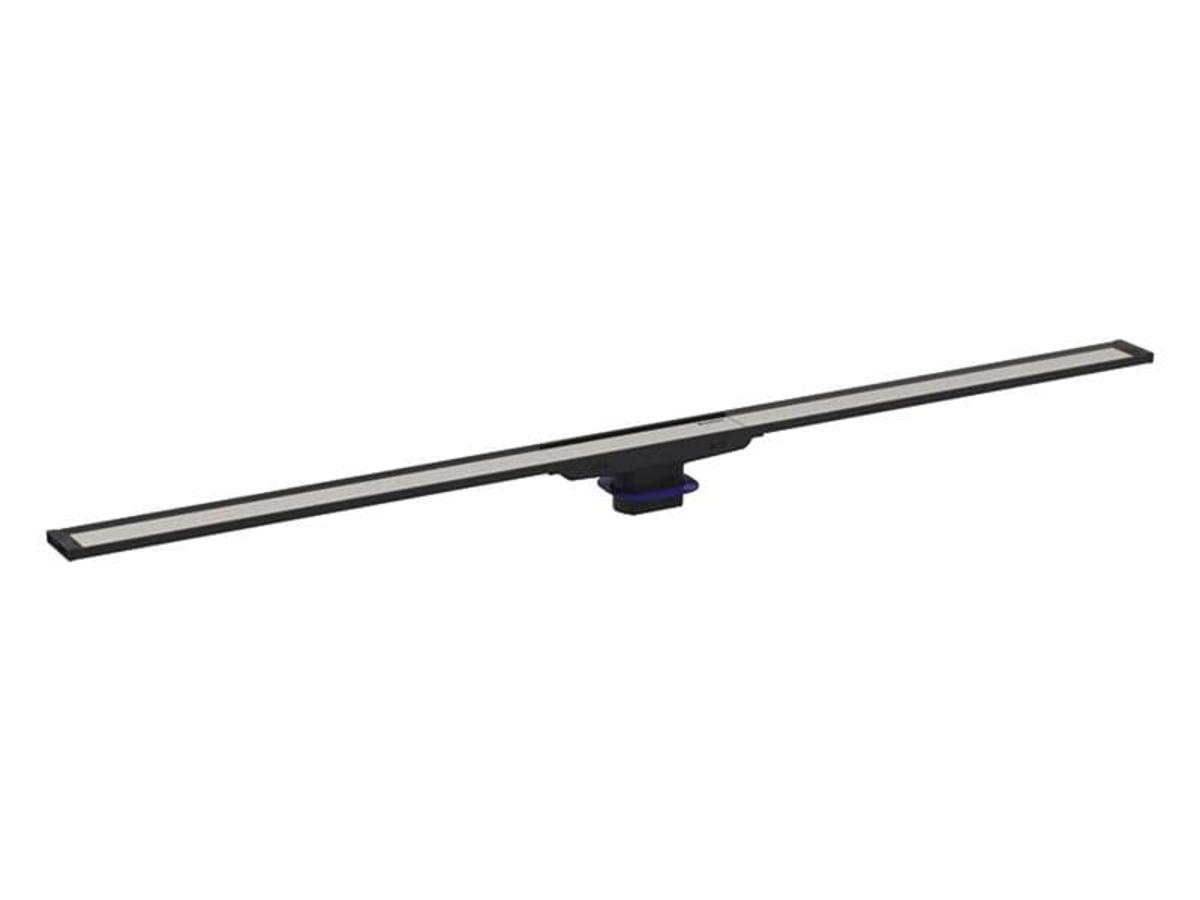 Geberit CleanLine20 sprchový kanálek 130 cm, rám nerez ocel s povlakem černá, plocha nerez ocel kartáčovaná 154.451.00.1