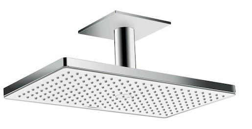Hansgrohe Rainmaker Select - Horní sprcha 460 mm 1jet, s přívodem od stropu 100 mm, bílá/chrom 24002400 Hansgrohe