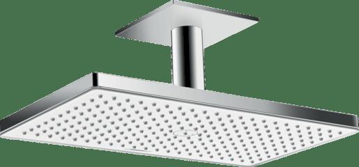 Hansgrohe Rainmaker Select - Horní sprcha 460 mm 1jet, s přívodem od stropu 100 mm, EcoSmart, bílá/chrom 24012400 Hansgrohe