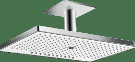 Hansgrohe Rainmaker Select - Horní sprcha 460 mm 3jet, s přívodem od stropu 100 mm, EcoSmart, bílá/chrom 24016400 Hansgrohe