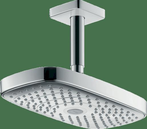 Hansgrohe Raindance Select E - Horní sprcha 300 2jet s přívodem od stropu 100 mm, EcoSmart, bílá/chrom 26608400 Hansgrohe
