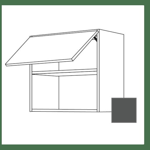 Kuchyňská skříňka pro mikrovlnnou troubu horní Naturel Terry24 60x65x32 cm břidlicová šedá 334.WM6001