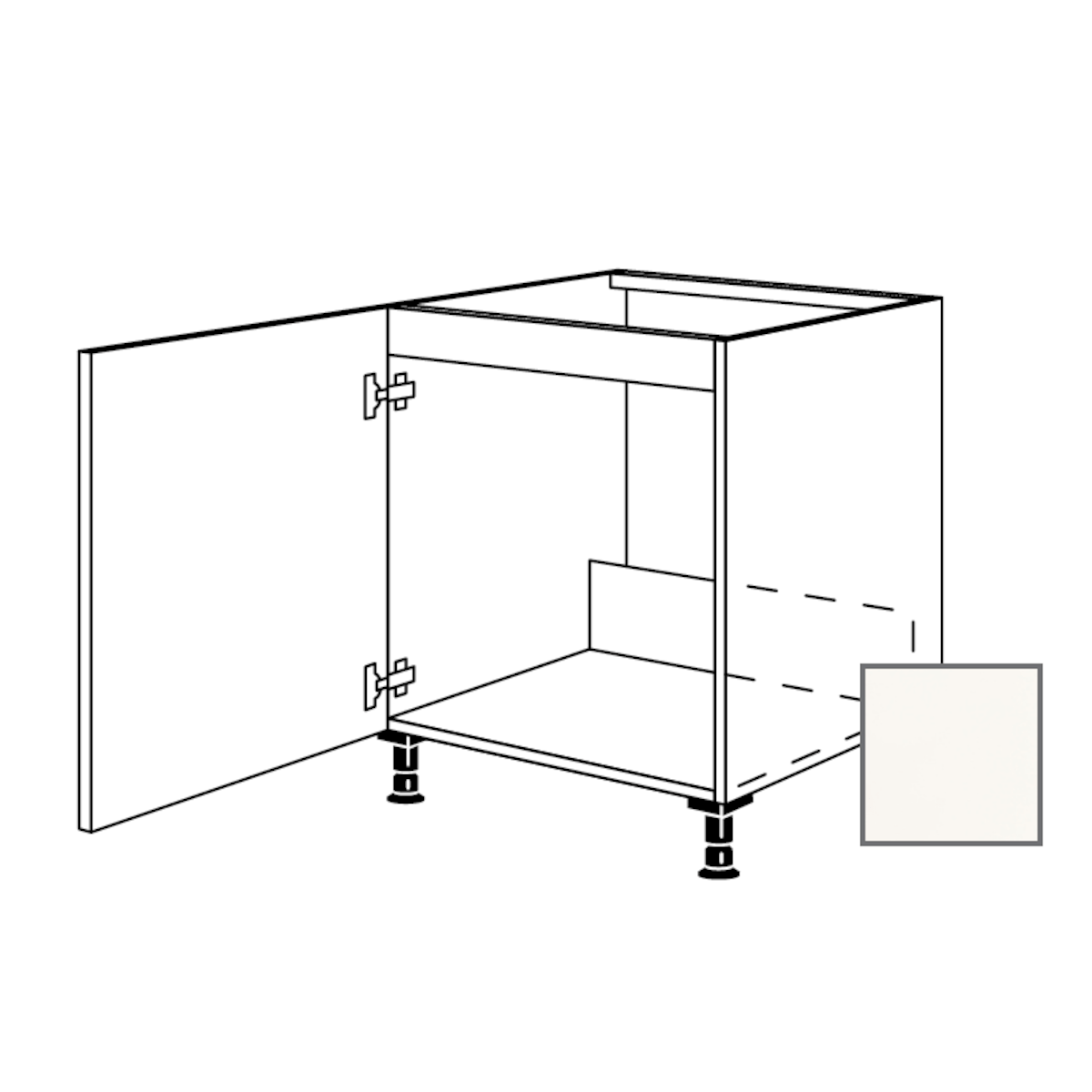 Kuchyňská skříňka spodní Naturel Erika24 dřezová 60x87x56 cm bílá lesk 450.SPUD60.L