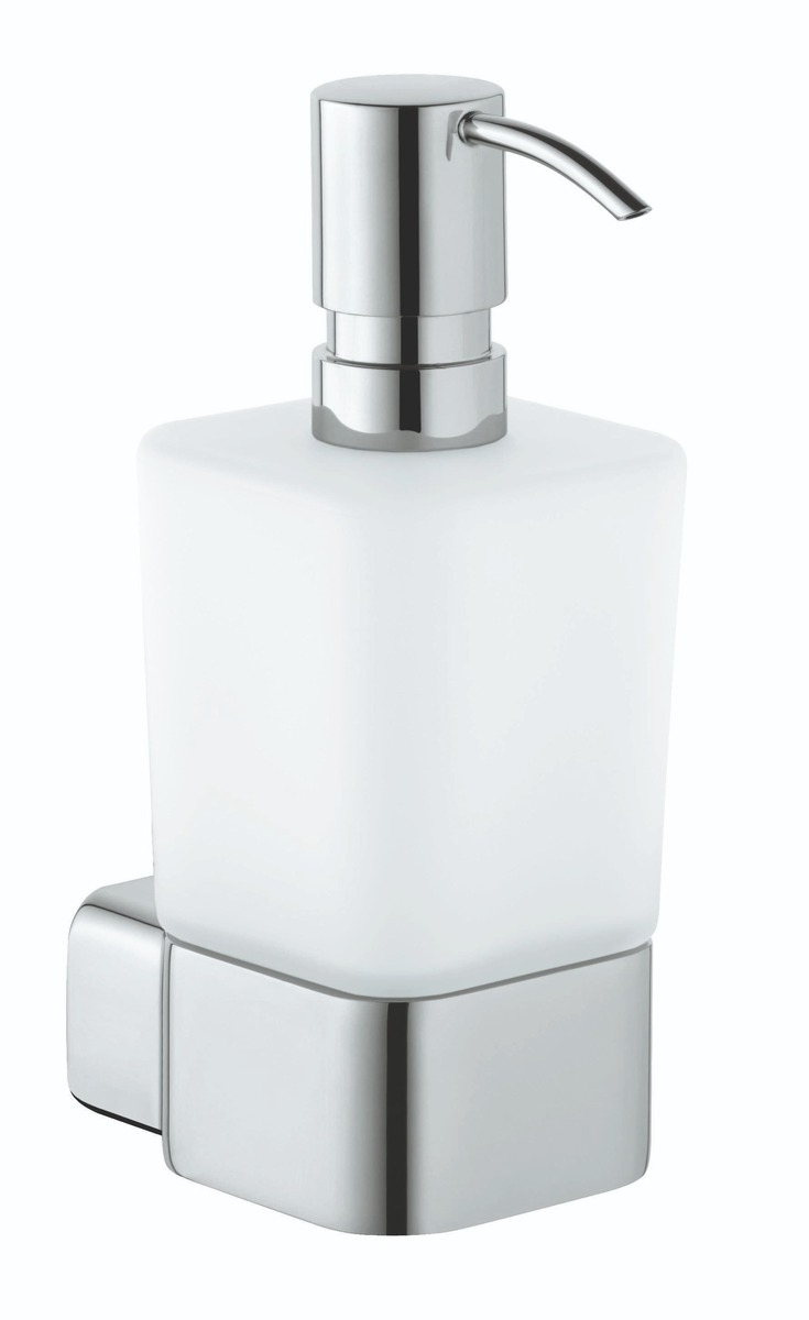 Dávkovač mýdla KLUDI E2včetně skleničky chrom 4997605