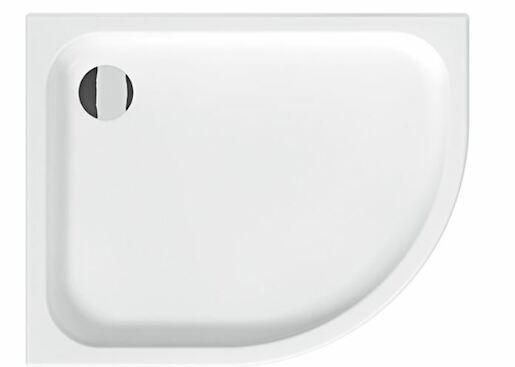 Sprchová vanička čtvrtkruhová Jika Tigo 100x80 cm keramika H8522106000001