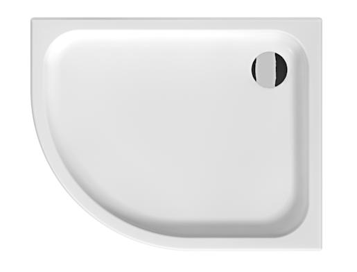 Sprchová vanička čtvrtkruhová Jika Tigo 100x80 cm keramika H8522110000001