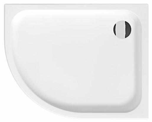 Sprchová vanička čtvrtkruhová Jika Tigo 100x80 cm keramika H8522116000001