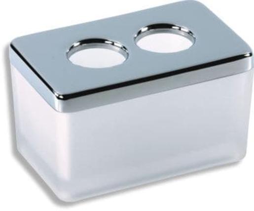 Dóza Novaservis Metalia 4 9,7 cm chrom 6422.0 - Novaservis Metalia 4 - Dóza na kosmetické tampóny, chrom 6422,0