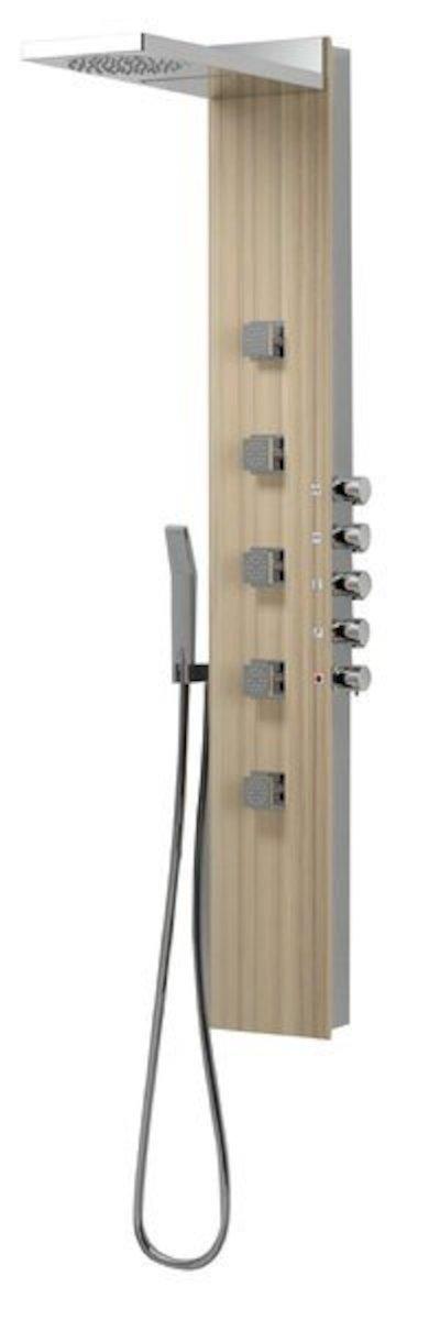 Sprchový panel Sapho s termostatickou baterií kokos 78782