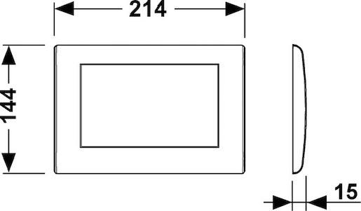 Ovládací tlačítko Tece, chrom 9.240.311