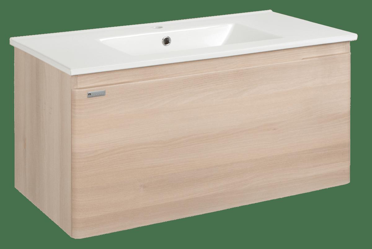 Koupelnová skříňka s umyvadlem Naturel Ancona 100x46 cm akácie ANCONA100DV