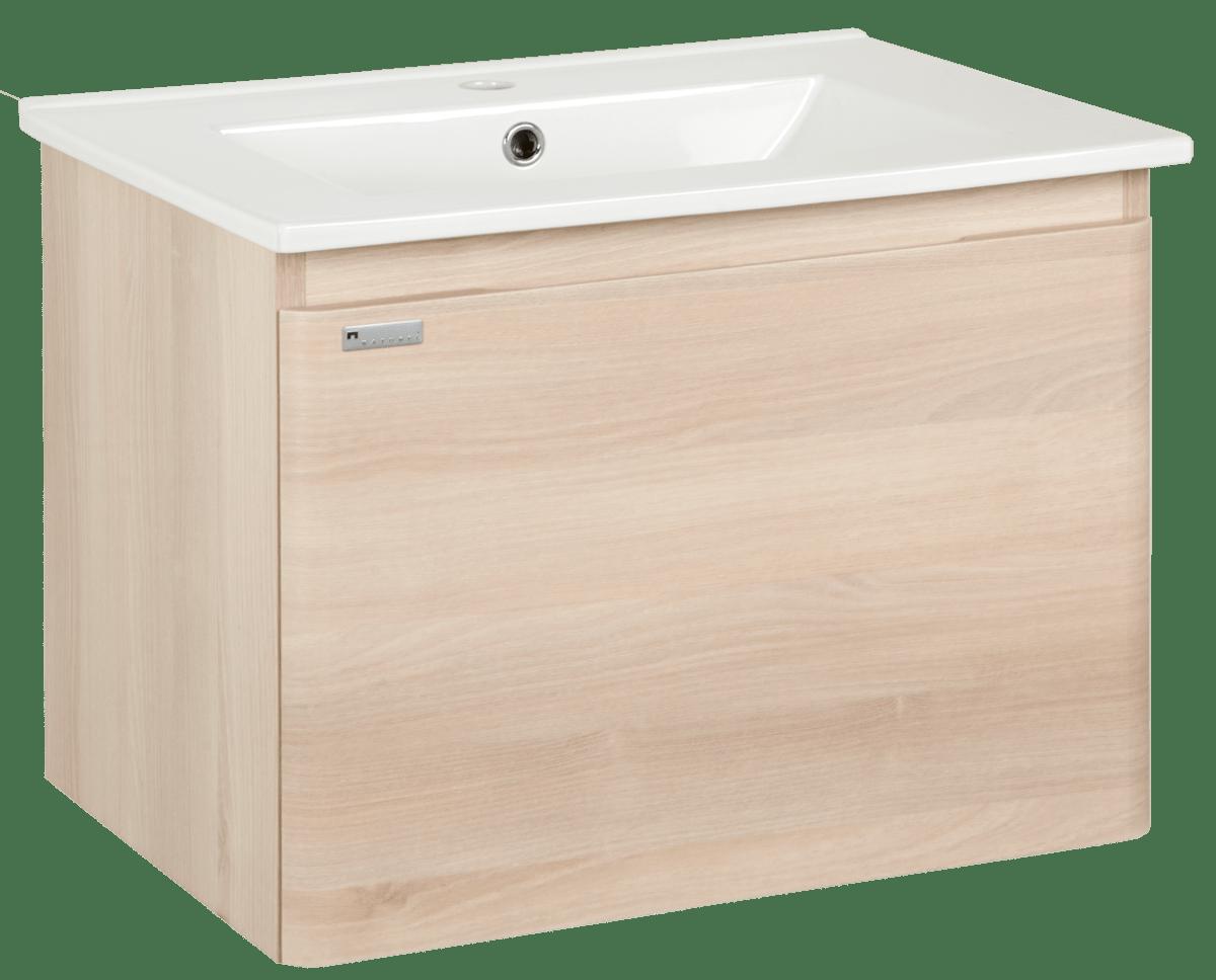 Koupelnová skříňka s umyvadlem Naturel Ancona 60x46 cm akácie ANCONA60DV