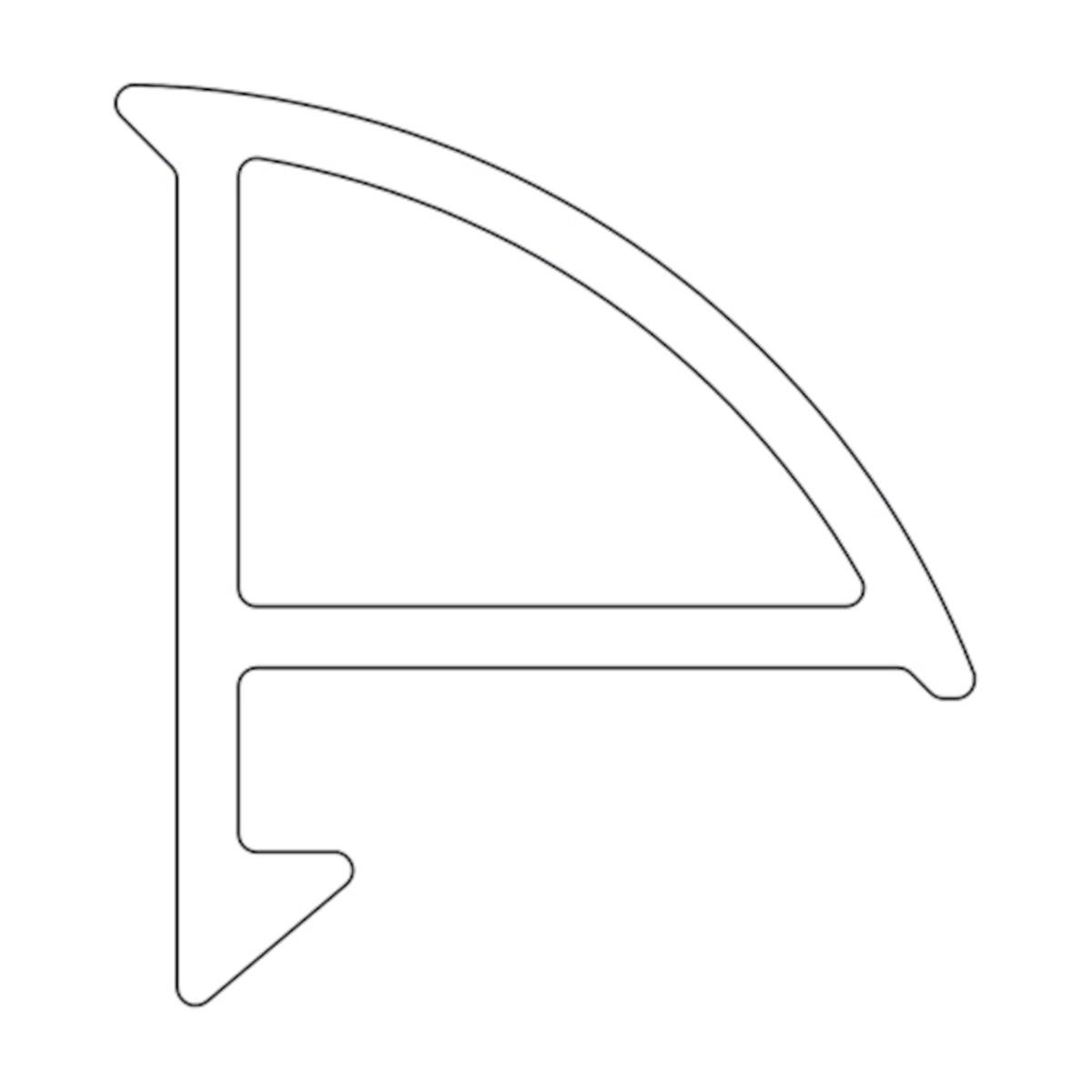 RAVAK Krycí lišta 6/1100 bílá XB441100001