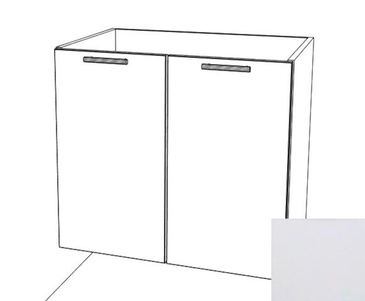 Kuchyňská skříňka dřezová spodní Naturel Gia 80 cm bílá mat BS8072BM