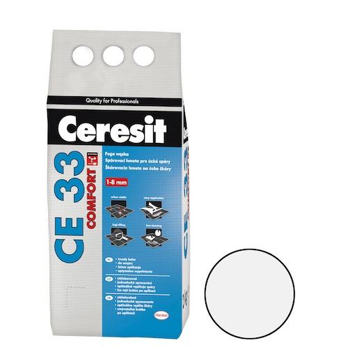 Spárovací hmota Ceresit CE 33 bílá 2 kg CG1 CE33201