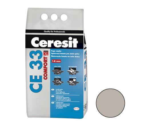 Spárovací hmota Ceresit CE 33 šedá 5 kg CG1 CE33507