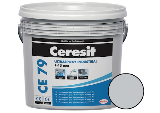 Spárovací hmota Ceresit CE 79 UltraEpoxy Industrial light gray 5 kg R2T CE79710