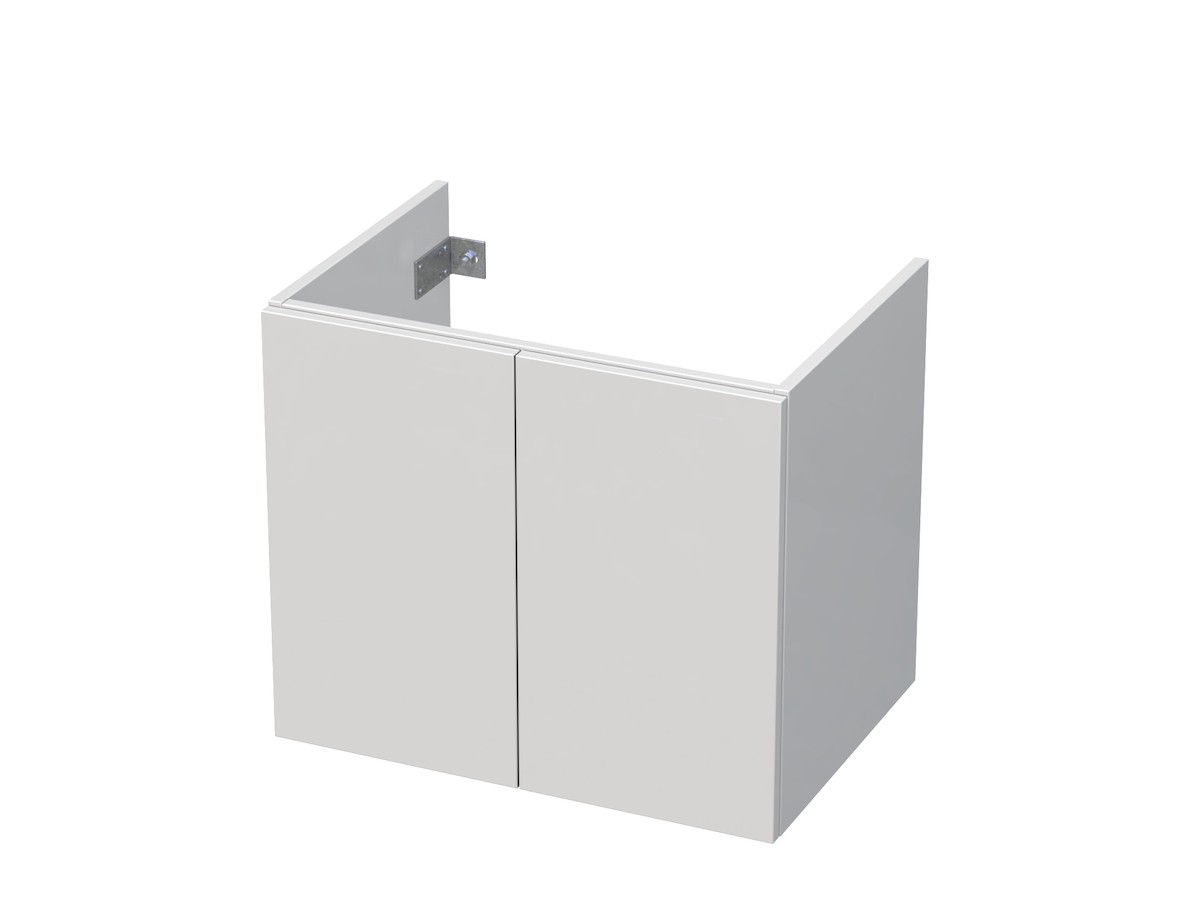 Koupelnová skříňka pod umyvadlo Naturel Ratio 61x56x46 cm bílá lesk CT652D56PU.9016G