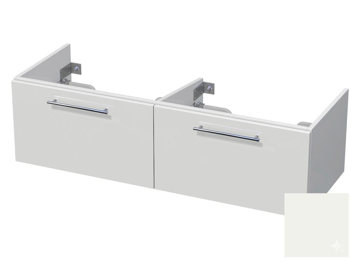 Koupelnová skříňka pod umyvadlo Naturel Ratio 120x41,5x40 cm bílá lesk CU120D2Z36.9016G