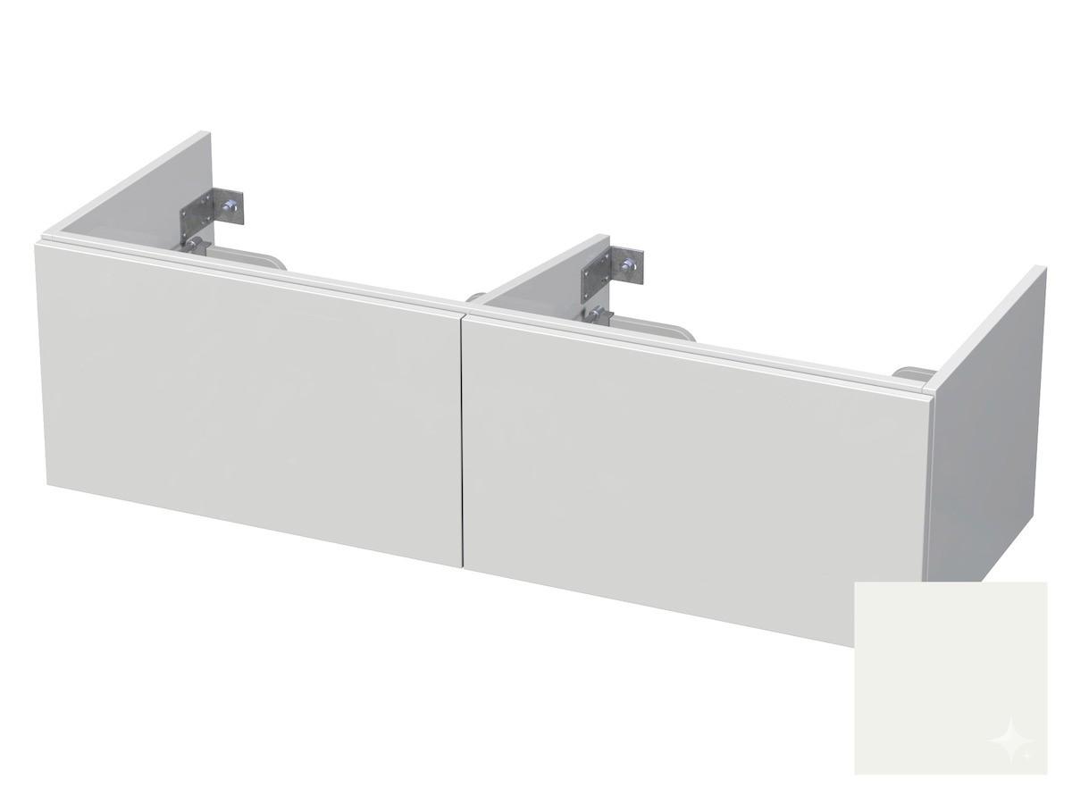 Koupelnová skříňka pod umyvadlo Naturel Ratio 120x41,5x40 cm bílá lesk CU120D2Z36PU.9016G