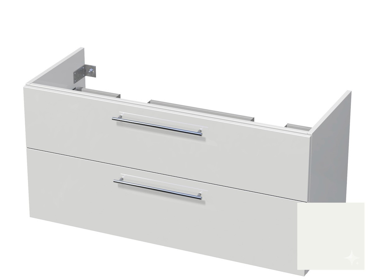 Koupelnová skříňka pod umyvadlo Naturel Ratio 120x61,5x40 cm bílá lesk CU120D2Z56.9016G