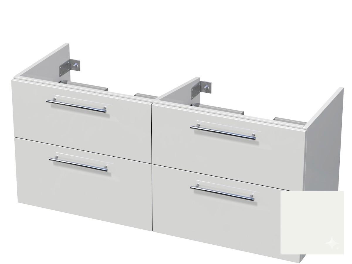 Koupelnová skříňka pod umyvadlo Naturel Ratio 120x61,5x40 cm bílá lesk CU120D4Z56.9016G