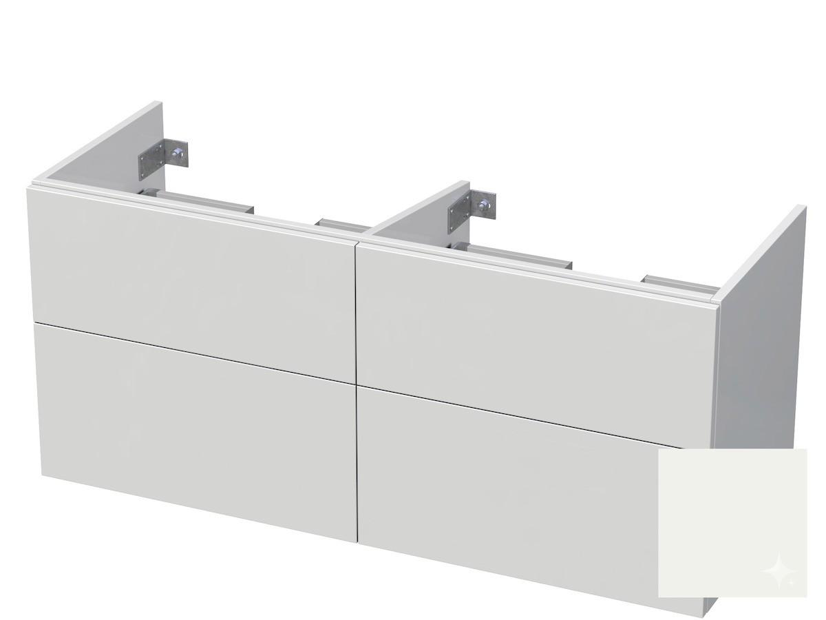 Koupelnová skříňka pod umyvadlo Naturel Ratio 120x61,5x40 cm bílá lesk CU120D4Z56PU.9016G