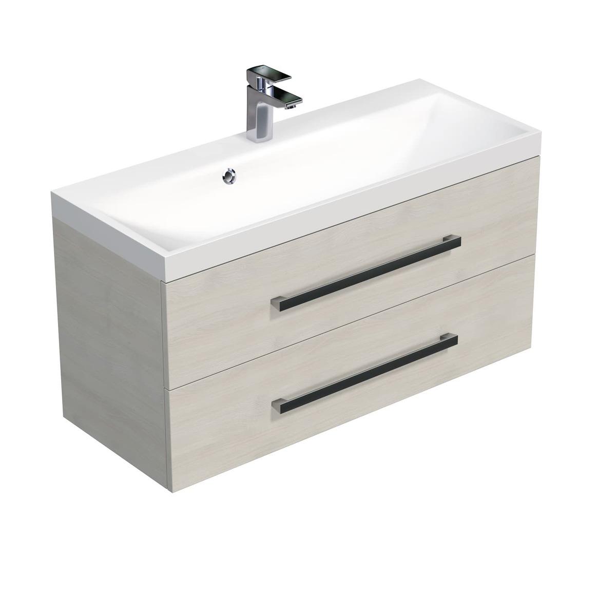 Koupelnová skříňka s umyvadlem Naturel Cube Way 100x53x40 cm dub chamonix CUBE2100ZDC