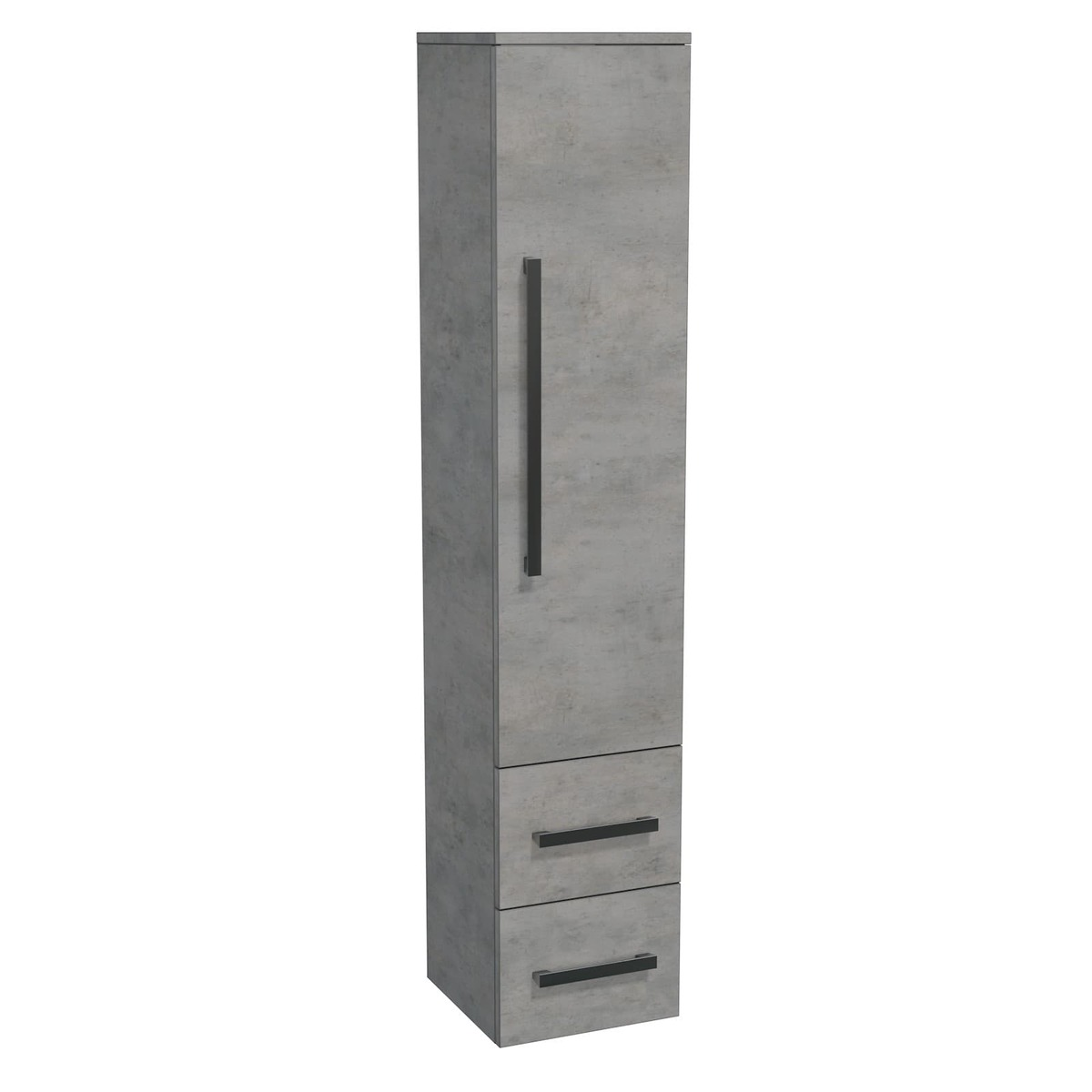 Koupelnová skříňka vysoká Naturel Cube Way 35x163x33 cm beton CUBE2V35BE