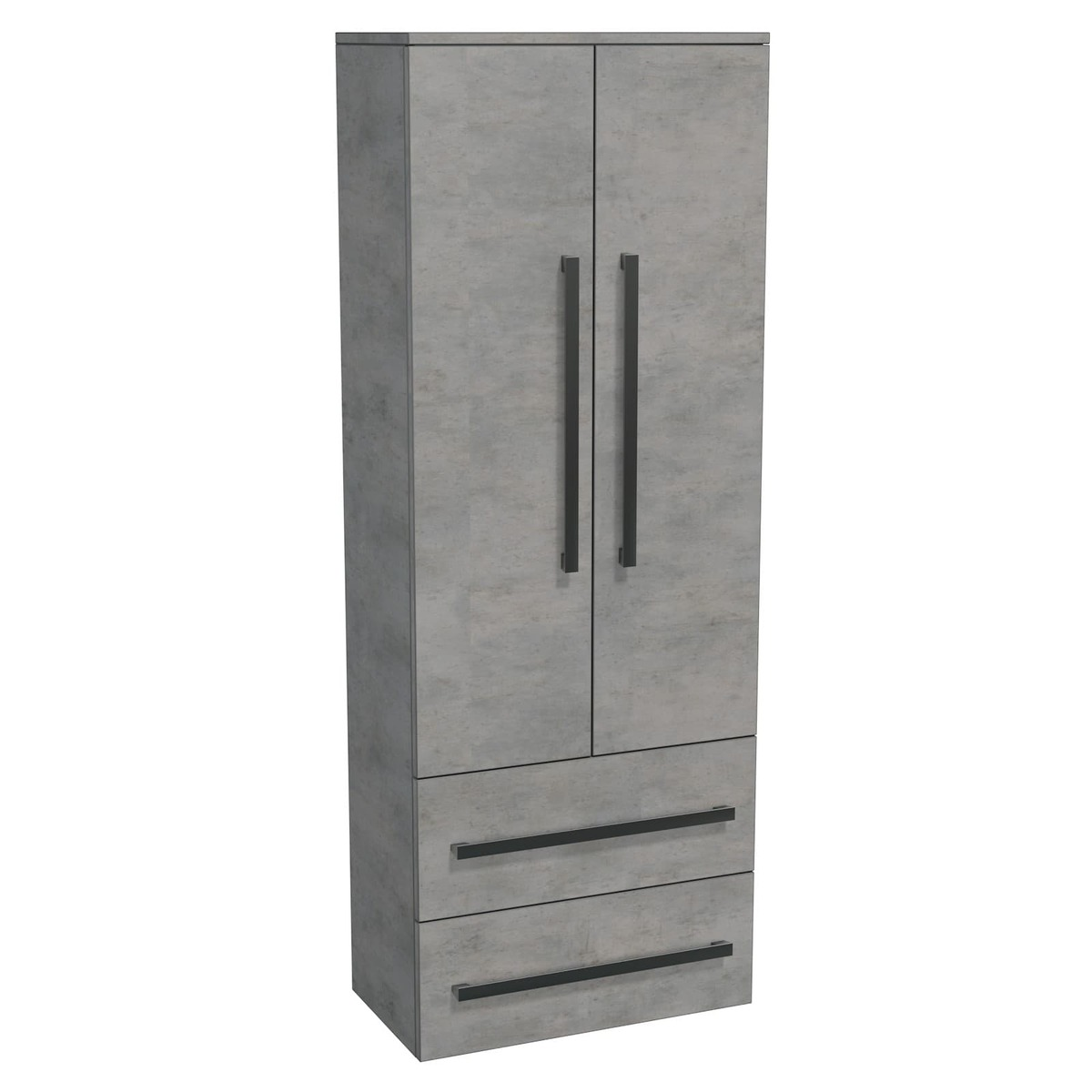 Koupelnová skříňka vysoká Naturel Cube Way 60x163x33 cm beton CUBE2V60BE