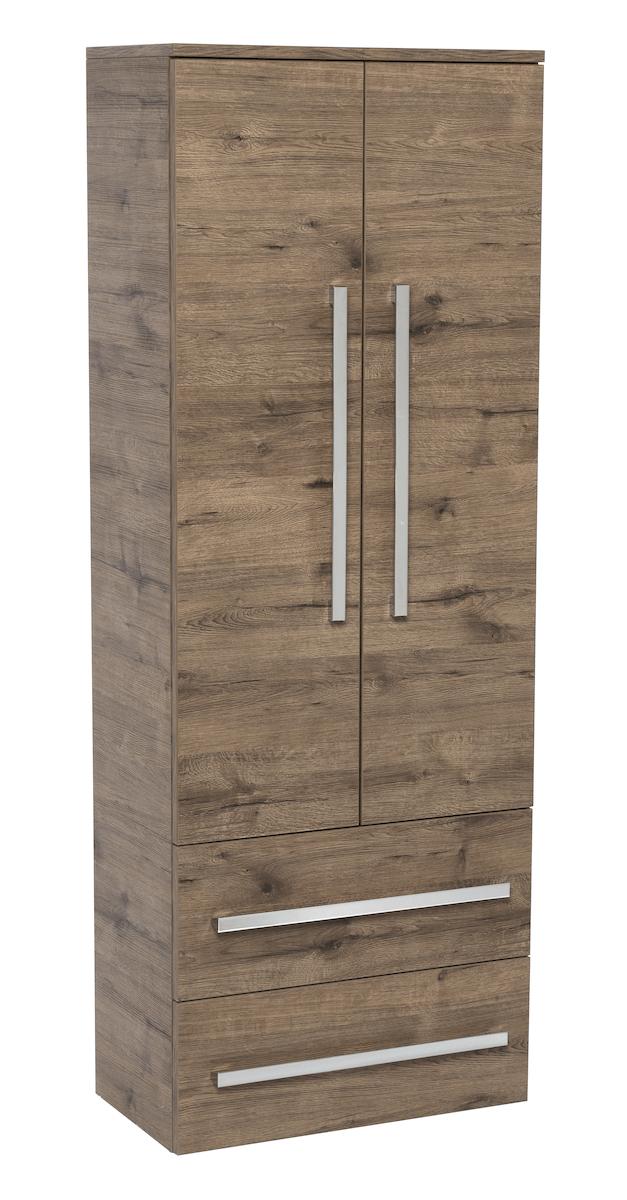 Koupelnová skříňka vysoká Naturel Cube Way 60x33 cm dub wellington CUBE2V60DW