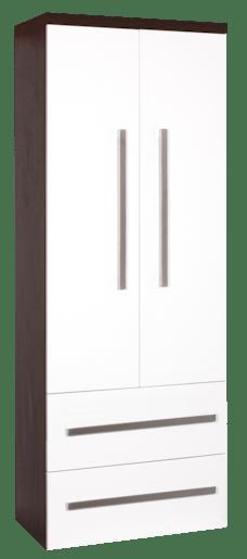 Koupelnová skříňka vysoká Naturel Cube Way 60x33 cm bílá/wenge CUBE2V60W