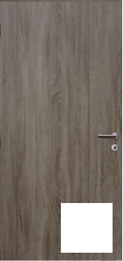 Protipožární vstupní dveře pravé bílá 80cm - DPOB80P