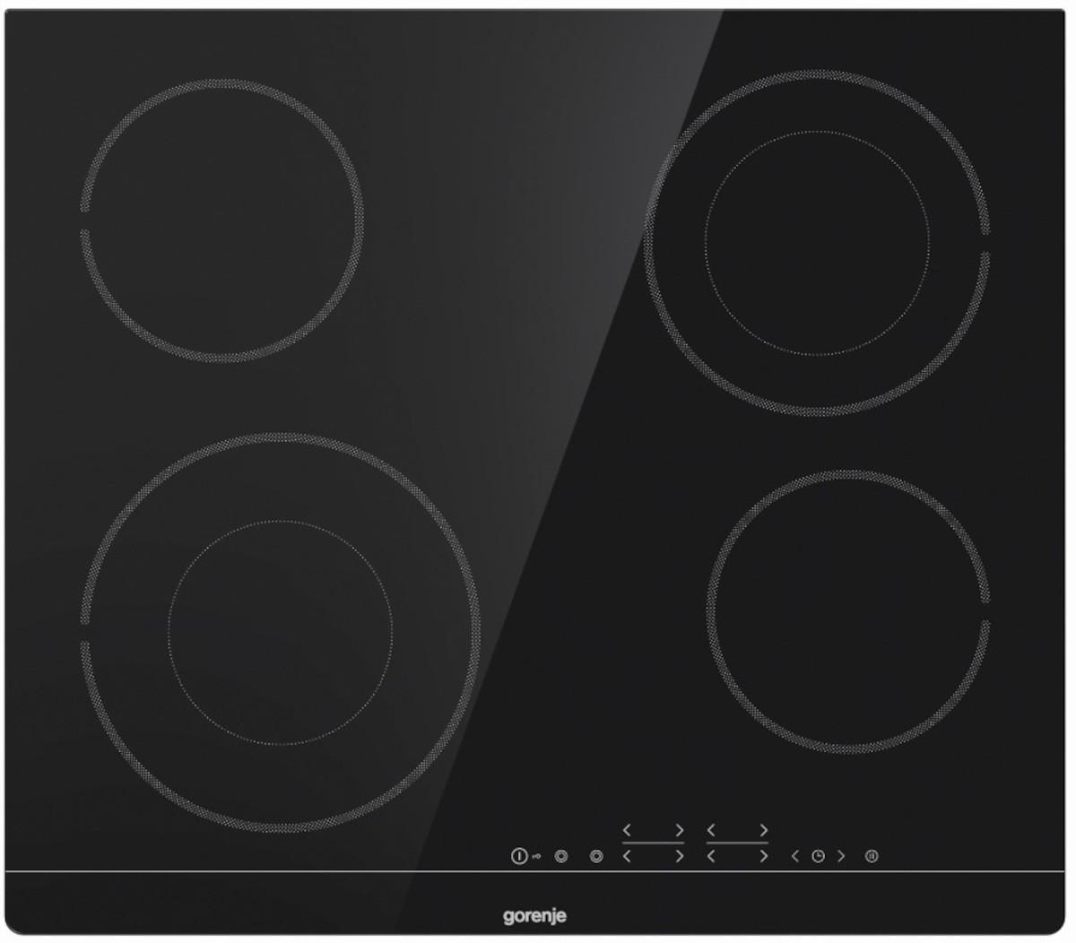 Sklokeramická varná deska Gorenje černá ECT644BSC