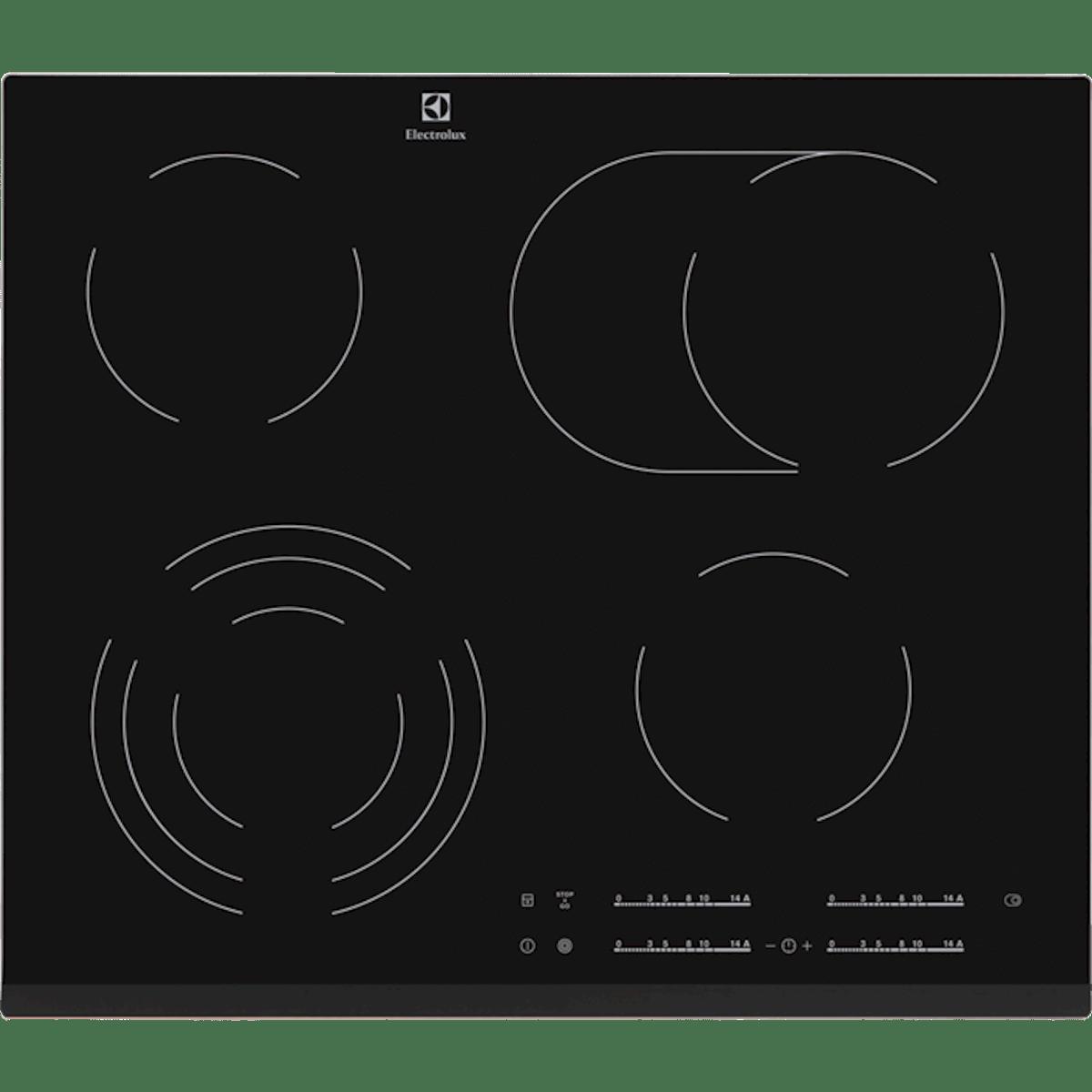 Sklokeramická varná deska Electrolux černá EHF6547FXK