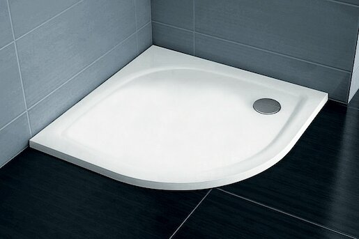 Sprchová vanička čtvrtkruhová Ravak 80x80 cm litý mramor XA234411010