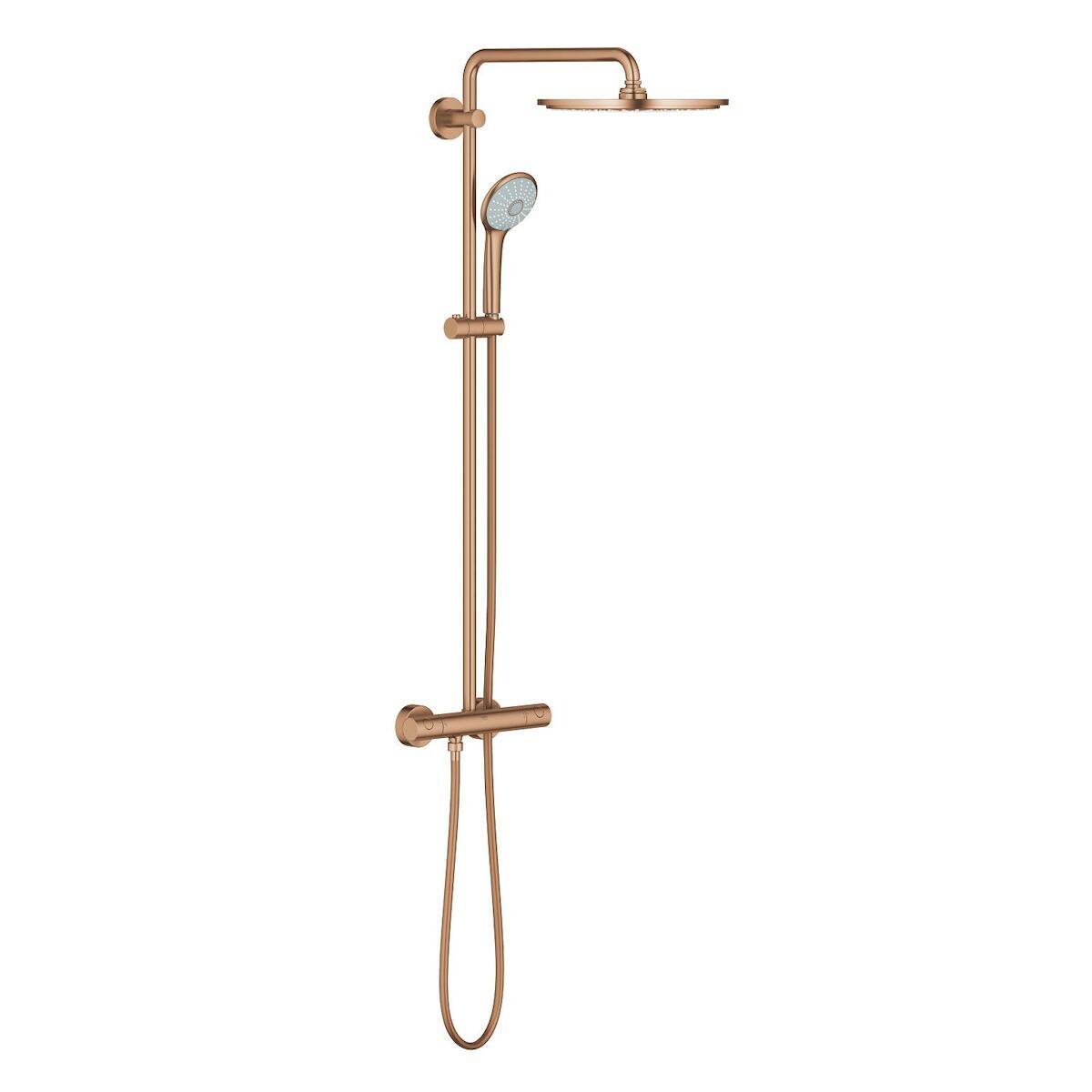 Sprchový systém Grohe Euphoria System s termostatickou baterií Brushed Warm Sunset 26075DL0
