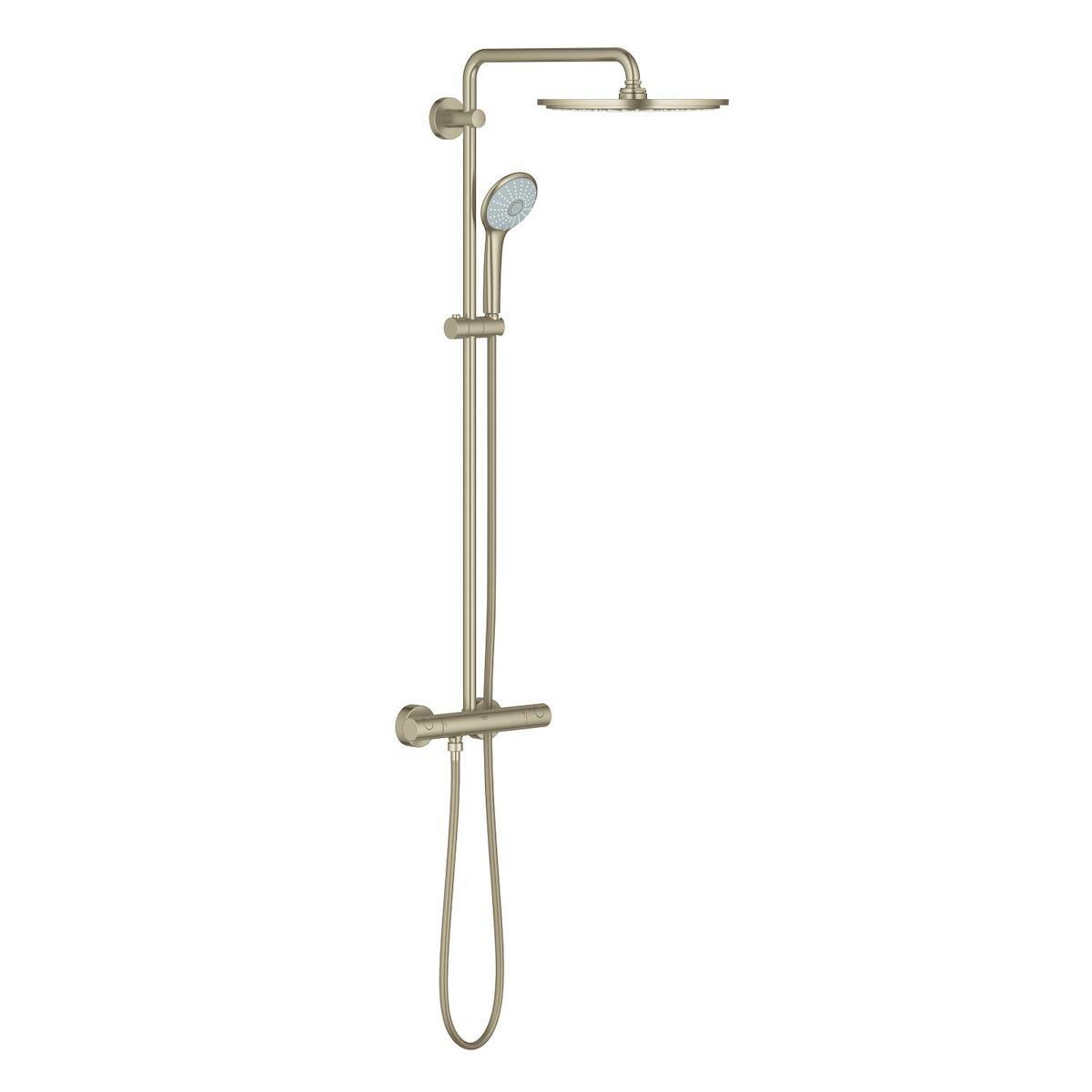 Sprchový systém Grohe Euphoria System s termostatickou baterií brushed nickel 26075EN0