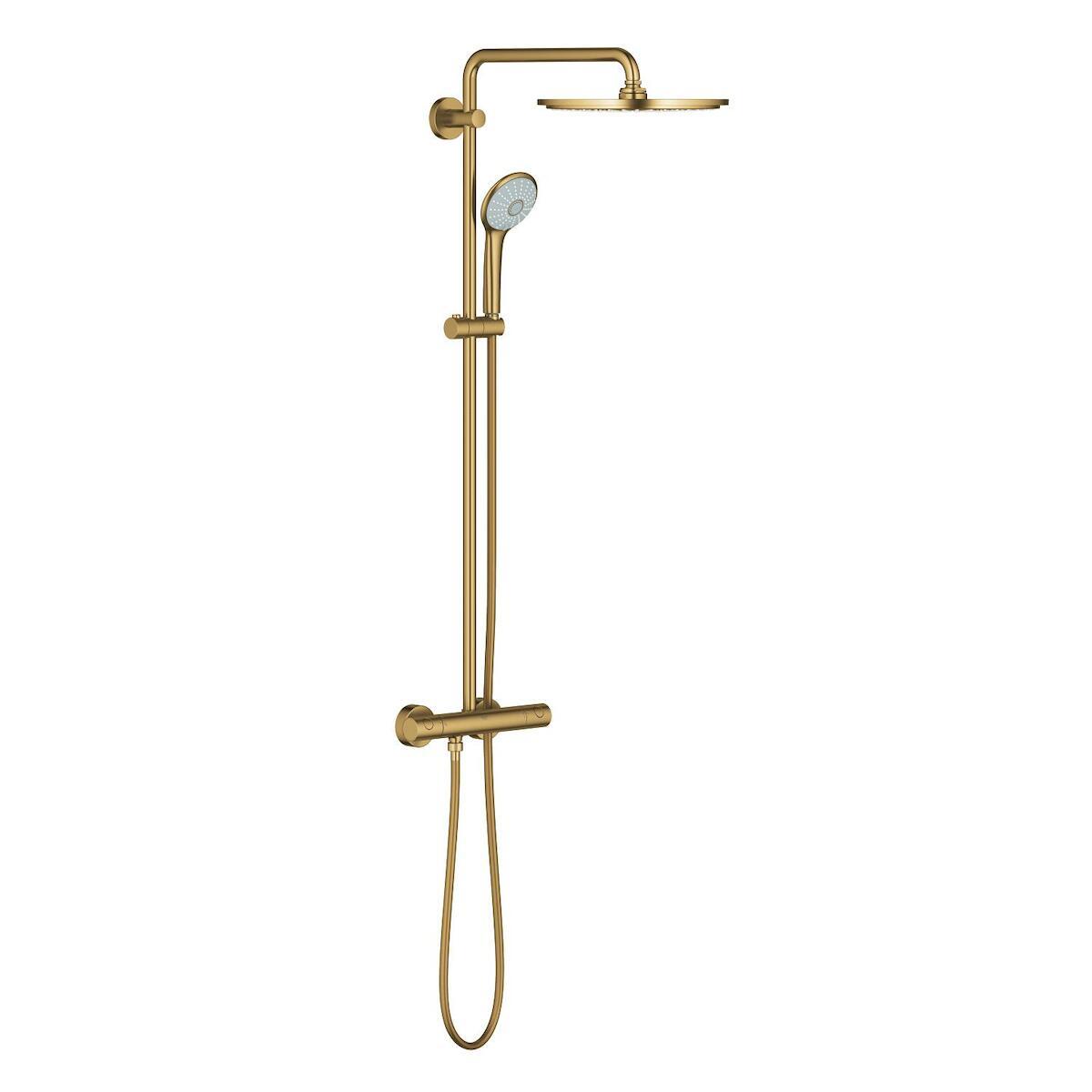 Sprchový systém Grohe Euphoria System s termostatickou baterií Brushed Cool Sunrise 26075GN0