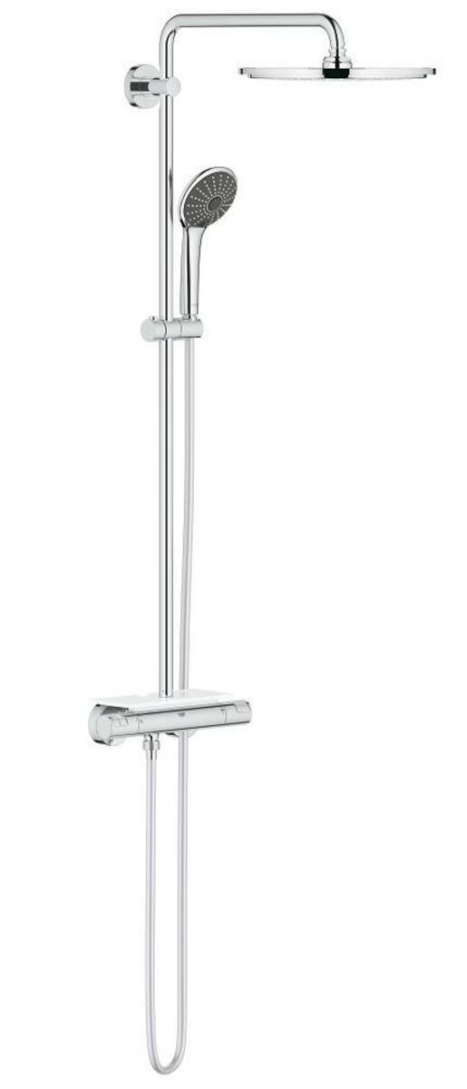 Sprchový systém Grohe Vitalio Joy na stěnu s termostatickou baterií chrom 26401000