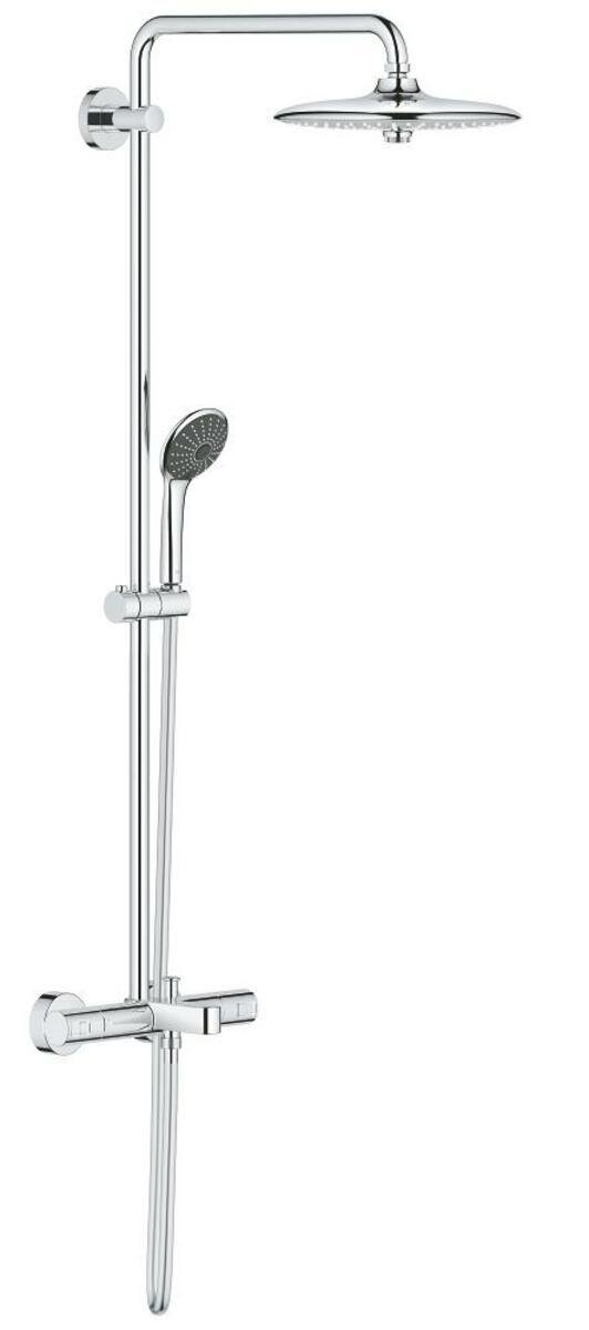 Sprchový systém Grohe Vitalio Joy na stěnu s vanovým termostatem chrom 27860001