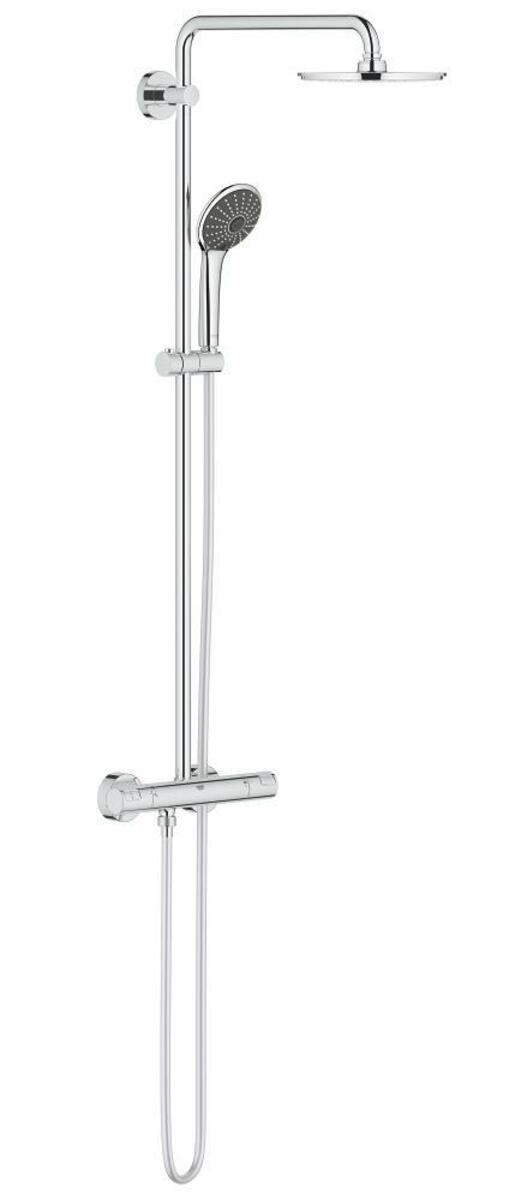 Sprchový systém Grohe Vitalio Joy na stěnu s termostatickou baterií chrom 27965000