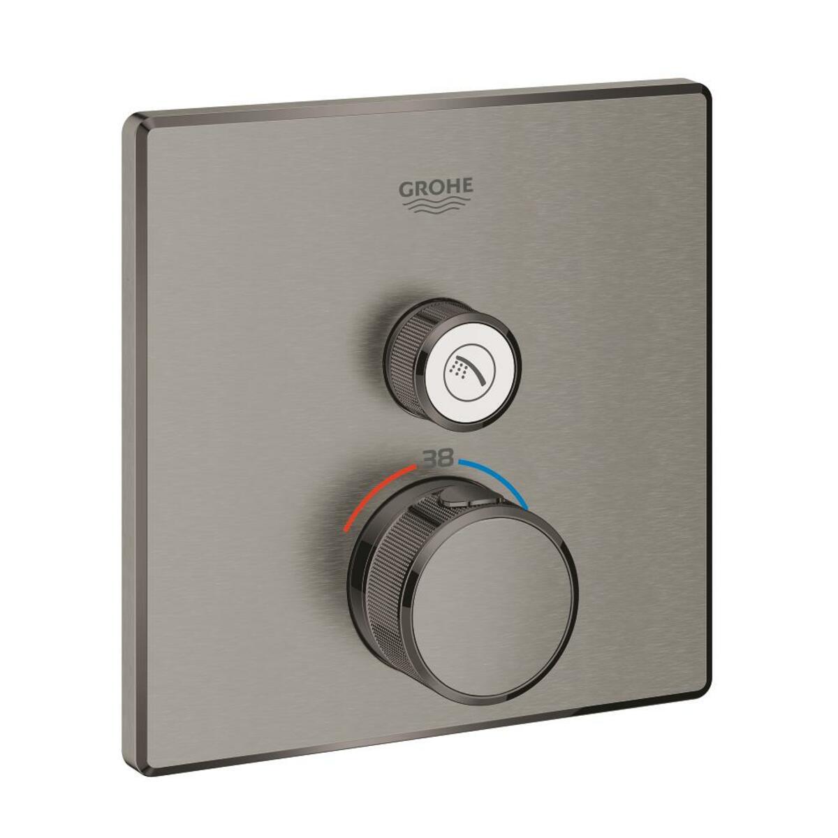 Sprchová baterie Grohe Grohtherm Smartcontrol bez podomítkového tělesa kartáčovaný Hard Graphite 29123AL0