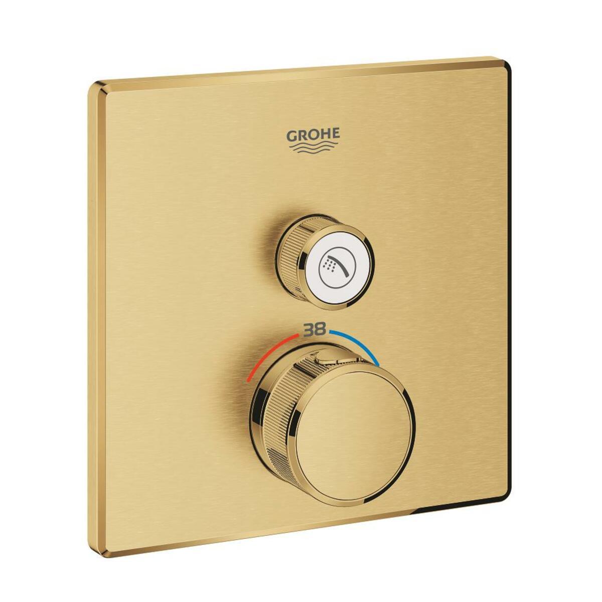 Sprchová baterie Grohe Grohtherm Smartcontrol bez podomítkového tělesa kartáčovaný Cool Sunrise 29123GN0