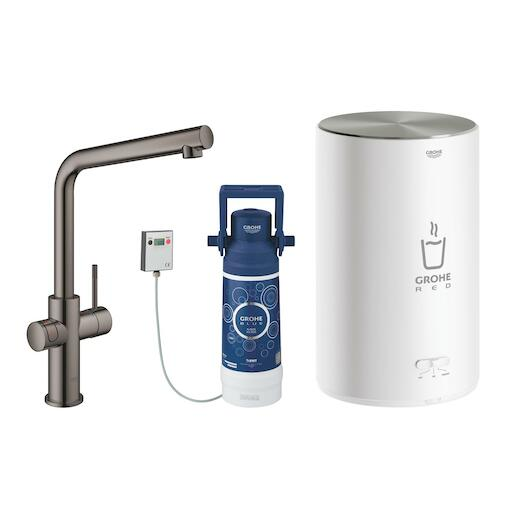 Dřezová baterie Grohe Red Duo Hard Graphite 30327A01